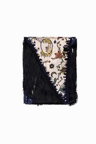 Zadig & Voltaire Silky Fringed Circus Tattoo Scarf