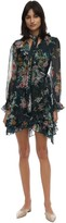 Zimmermann Floral Print Wrapped Silk Mini Dress