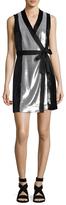 Diane von Furstenberg Sleeveless Slilk Sequin Wrap Dress