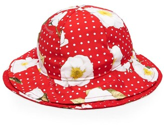MonnaLisa Polka Dot Print Orchid Hat