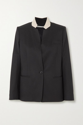 Stella McCartney Two-tone Wool Blazer - Black