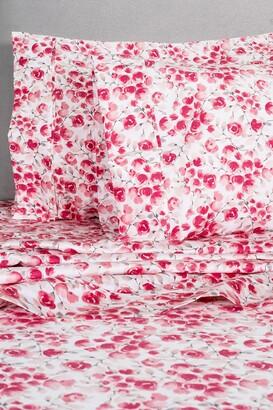 Melange Home Red Queen 400 Thread Count Cotton Poppy Sheet 4-Piece Set