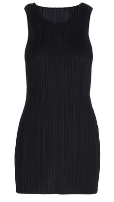 Pleats Please Issey Miyake Pleated Crewneck Mini Dress