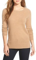 Halogen Crewneck Lightweight Cashmere Sweater (Regular & Petite)