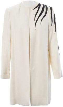 Bob Mackie Ecru Wool Coat for Women