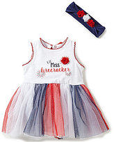 Baby Starters 3-12 Months Lil' Miss Firecracker Americana Skirted Bodysuit