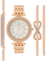 INC International Concepts Women's Rose Gold-Tone Bracelet Watch and Bracelets Set 34mm IN002RG, Only at Macy's