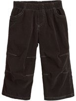 City Threads Soft Stretch Cord Pull-Up Pant w/ Knee Articulation - Vintage Black-9-12 Months