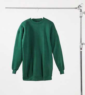 Daisy Street oversized sweat dress in green
