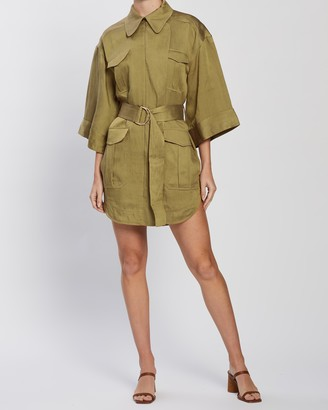 Shona Joy Trench Mini Dress