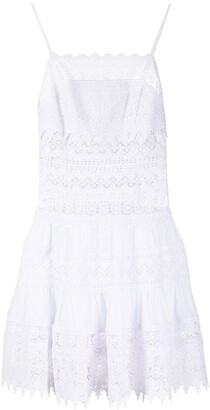 Charo Ruiz Ibiza Crochet Flared Short Dress