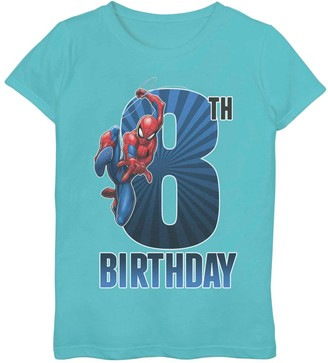Spiderman Licensed Character Girls 7-16 Marvel 8th Birthday Tee