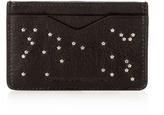 Alexander Mcqueen Star-embellished Leather Cardholder
