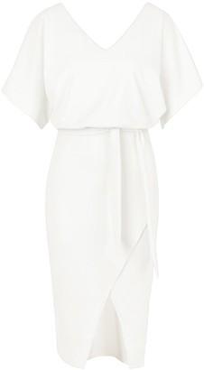 boohoo Kimono Tie Belt Midi Dress