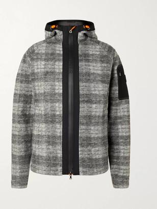 Bogner Atreus Logo-Embroidered Checked Wool-Blend Flannel Hooded Ski Jacket - Men - Gray
