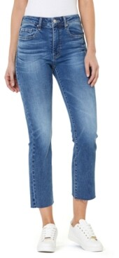 Numero Cropped High Rise Kick Flare Jeans