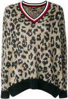 Tommy Hilfiger leopard V-neck pullover