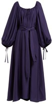 Three Graces London The Honeymoon Scoop-neck Silk Maxi Dress - Womens - Navy