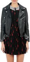 Saint Laurent Women's Leather Moto Jacket-BLACK