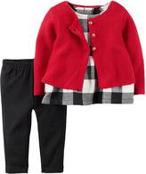 Carter's Girls 3-pc. Long Sleeve Pant Set-Baby