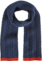 White Stuff Ralph Cable Knit Scarf