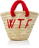 Poolside L'Petit Embroidered Straw Tote