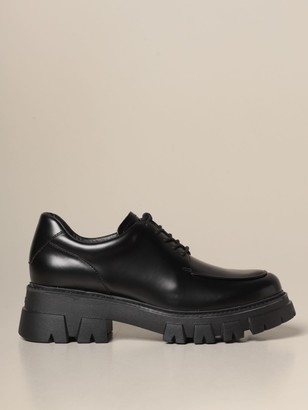 Ash Lab Derby In Leather With Rubber Sole