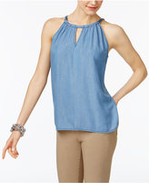 INC International Concepts Chambray Halter Top, Only at Macy's