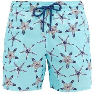 Vilebrequin Mahina Starfish-print Swim Shorts - Light Blue