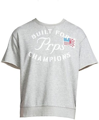 PRPS Logo Short-Sleeve Fleece Top