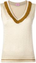D'enia - metallic knit vest - women - Nylon/Polyester/Acetate - M