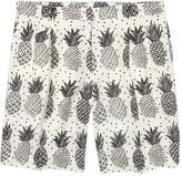 Dolce & Gabbana Ivory Pineapple-print Linen Shorts