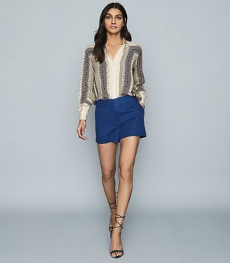 Reiss LYLA TAILORED SHORTS Blue