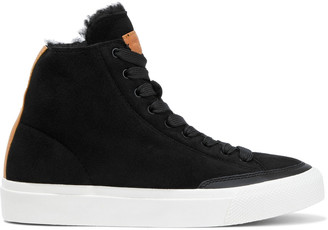 Rag & Bone Rb Shearling-lined Suede High-top Sneakers