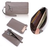 Zg gift Womens Wristlet Zipper Wallet Clutch Purse With Cell Phone Pack And Key Rings