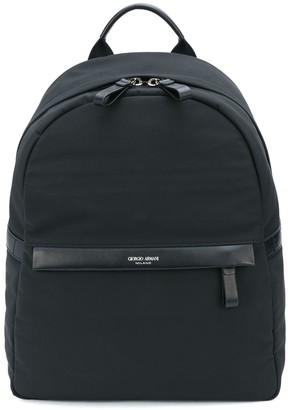 Giorgio Armani Logo-Debossed Backpack