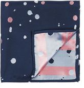 Topman Paint Splat Pocket Square