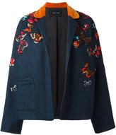 Michel Klein 'butterflies' embroidered jacket - women - Wool - 36