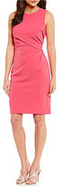 Adrianna Papell Stretch Crepe Tucked Waist Sheath Dress