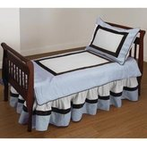 Baby Doll Bedding Blue Chocolate Bordered Toddler Bedding