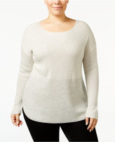 INC International Concepts Plus Size High-Low Metallic Sweater, Only at Macy's