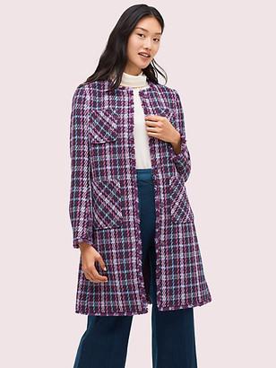 Kate Spade Plaid Tweed Coat