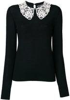 Dolce & Gabbana collar detail knitted top