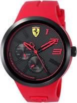 Ferrari Scuderia Men's 'FXX' Quartz Resin and Silicone Casual Watch, Color:Red (Model: 0830396)