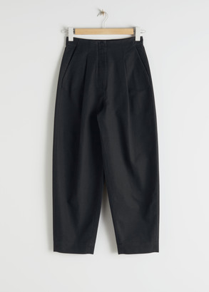 And other stories Wide Leg Cotton Chino Trousers