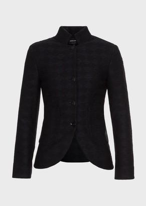 Giorgio Armani Jacquard Jersey Jacket With Diamond-Shaped Relief