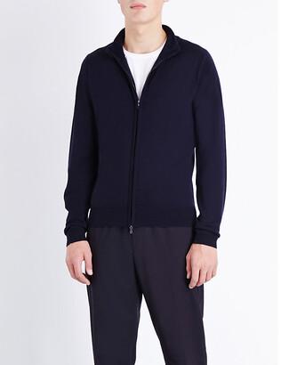 John Smedley Men's Midnight Zipped Merino Wool Cardigan, Size: L
