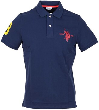 U.S. Polo Assn. Dark Blue Pique Cotton Men's Polo Shirt