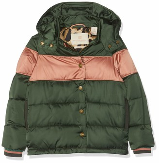 Scotch & Soda Girl's Short Length Padded Jacket with Detachable Hood