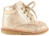 Angulus Creek Iridescent Lace Up Leather First Walking Shoes